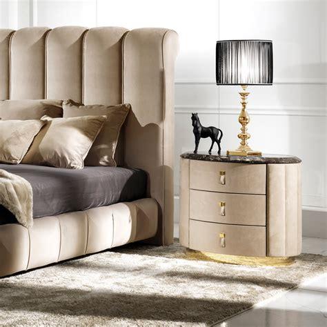 oval bedroom furniture nubuck leather luxury oval bedside table