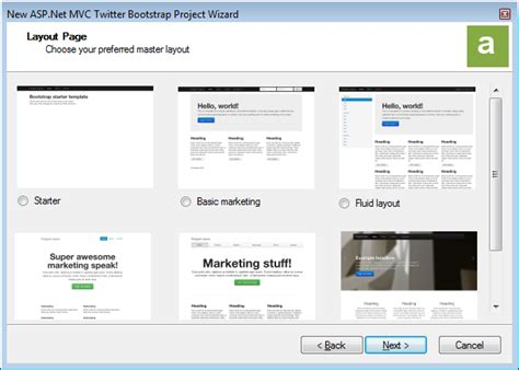 bootstrap templates for visual studio asp net mvc twitter bootstrap project templates wizards
