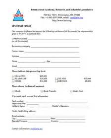 Sponsorship Resume Template by Doc 725946 Sle Sponsor Form Sponsorship Form