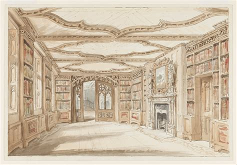 Furniture Drawing file charles james richardson interior view of a library