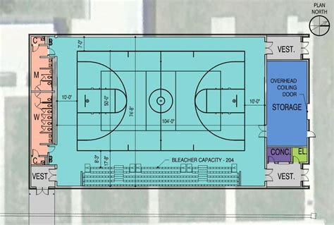 design guidelines for gymnasium design for lafayette high school auxiliary gym brings