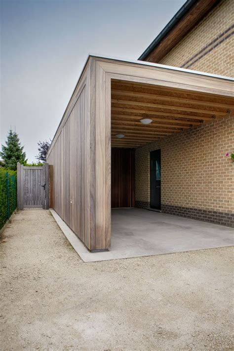 moderne carports moderne carports in hout bogarden river house