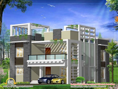 Contemporary Modern House Plans by March 2012 Kerala Home Design And Floor Plans