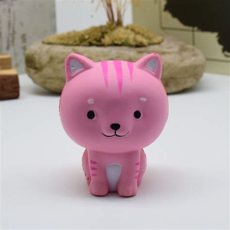 Lovely Pink Cat Squishy pink cat toys model ideas