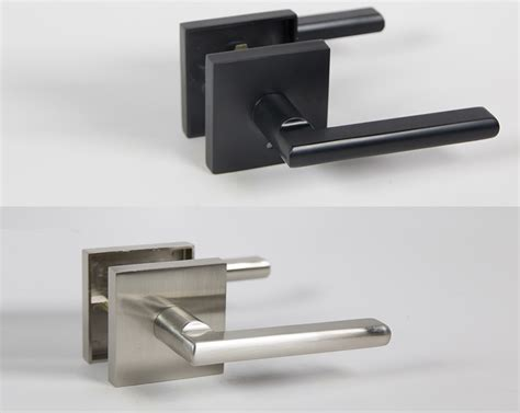 Halifax Square Door Handle Lever Lock Set With Push Button Interior Door Handles Toronto