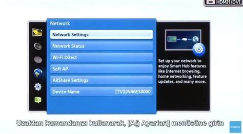 Tv Led Wifi Samsung samsung smart tv led tv wifi kablosuz ayarlar箟
