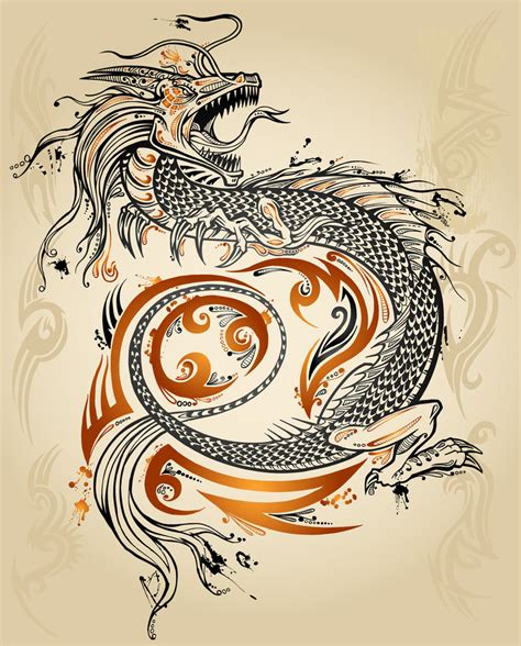 tribal japanese dragon tattoo by erikdeprince on deviantart
