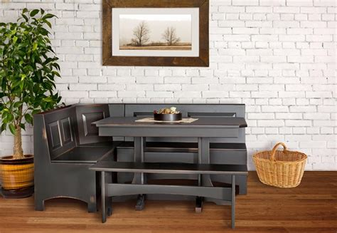 amish corner breakfast nooks in solid wood