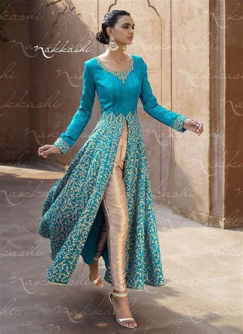 embroidery punjabi suits pinterest picturesque embroidered work bhagalpuri silk turquoise