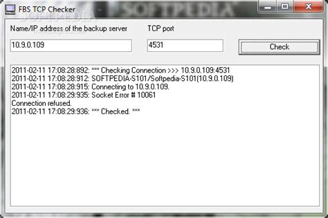 tcp checker fbs tcp checker