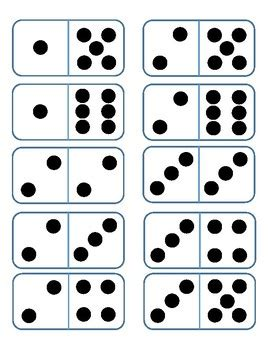 printable domino cards double six domino cards by tx math mania teachers pay