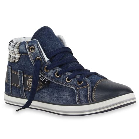 Sneakers Denim coole damen herren sneakers denim schuhe 99619 gr 36 45 top ebay