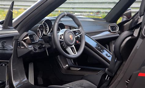 porsche 918 interior car and driver