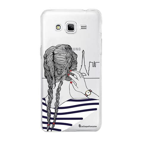 coque rigide transparent tresses pour samsung galaxy grand prime