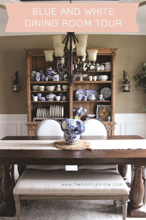 Blue And White Dining Room by Blue And White Dining Room The Hamby Home