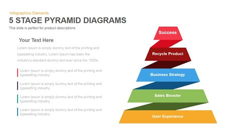 5 Stage Pyramid Diagrams Powerpoint and Keynote template