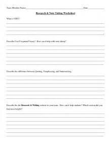 note taking worksheet worksheets for getadating