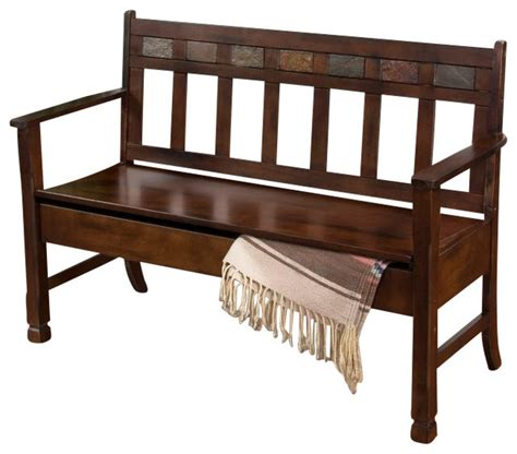 dining bench with back and storage wooden storage bench traditional dining benches by