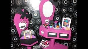 Dollhouse Bedroom Furniture Monster High House Furniture Handmade Youtube