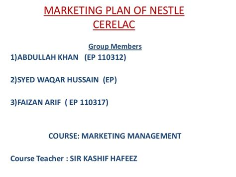 email nestle marketing plan of nestle