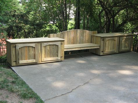 how to build deck benches bench deck box accessories doherty house