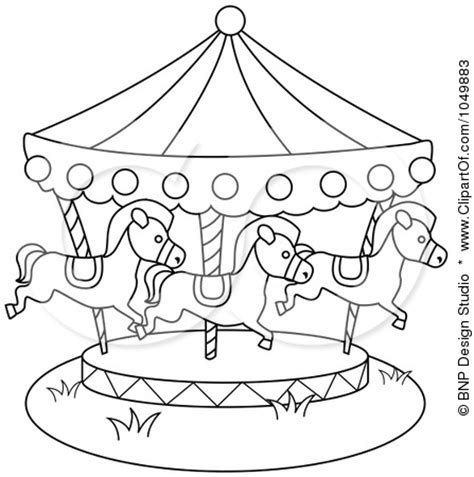 carousel coloring pages easy coloring pages
