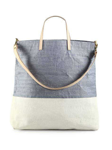 Botega Venetta 661 Jj Single Bag clare vivier matilde canvas tote in gray multi lyst