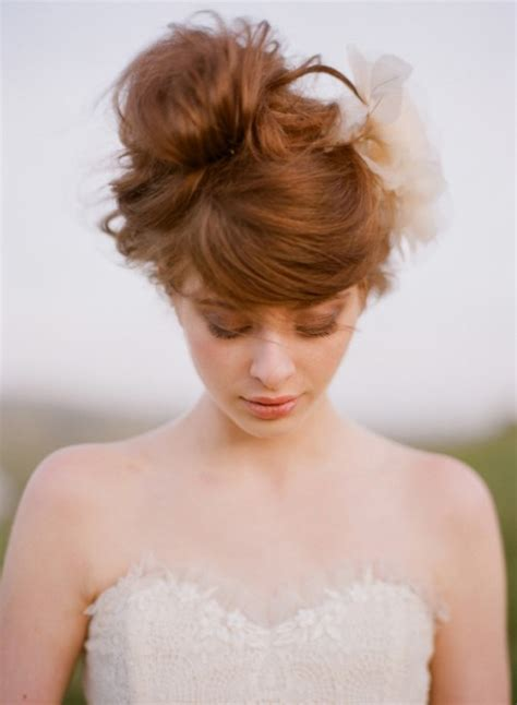 Pretty Wedding Hairstyles by 39 Chic And Pretty Wedding Hairstyles With Bangs