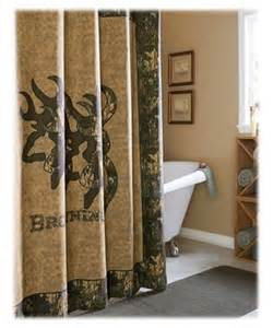 browning 3d buckmark collection shower curtain