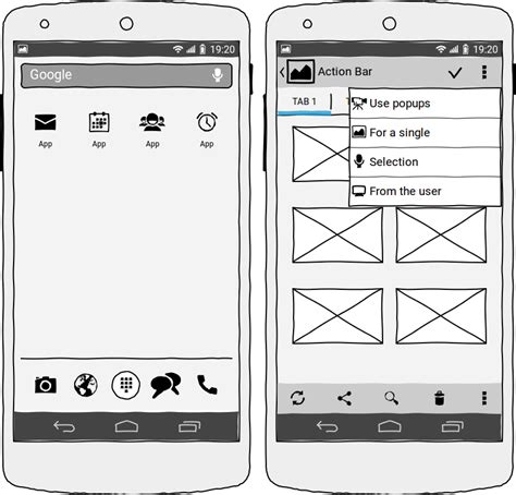wireframe templates for android wireframing tool for professionals wireframesketcher