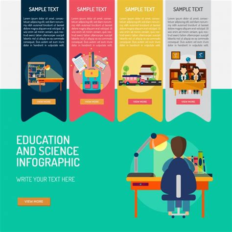 html education templates education infographic template vector free