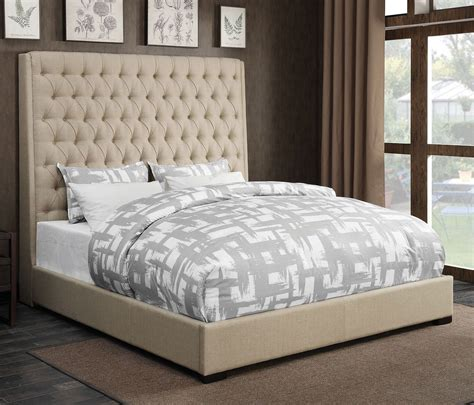 Camille Upholstered Bed Cream Beds Bedroom Furniture Camille Bedroom Furniture