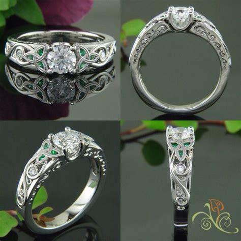 emerald celtic ring beautiful opal rings