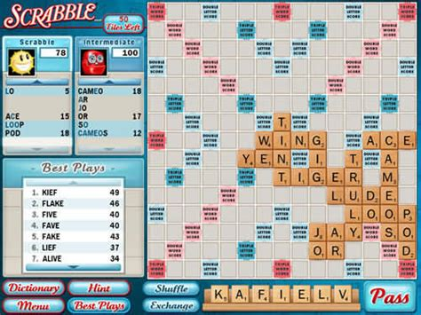 scrabble with computer opponent scrabble version