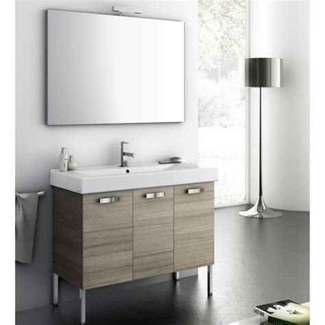 modern 37 inch cubical vanity set with ceramic sink