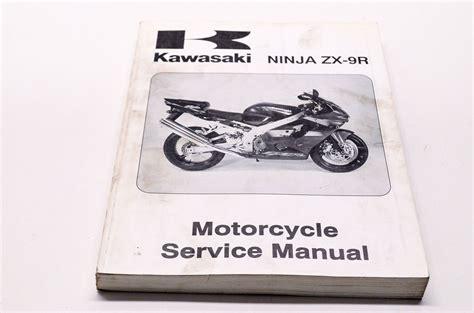 Kawasaki Service Manuals by Kawasaki 2002 Zx 9r Shop Repair Service Manual