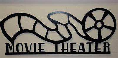 movie night new metal wall art home theater decor movie theater reel sign quot 24 metal wall art decor