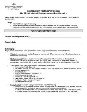 conflict of interest disclosure form template image