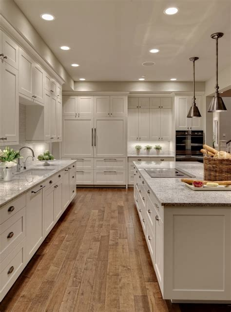 modern kitchen flooring ideas shaker cabinets clean simple functional and visually