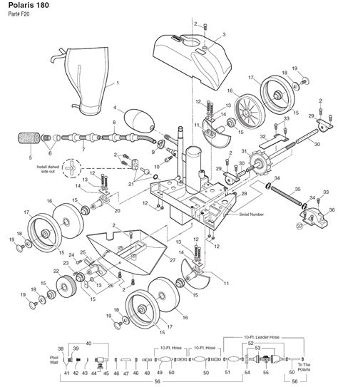 polaris pool parts diagram polaris 180 pool cleaner replacement parts