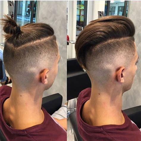 top knot hairstyle men fade haircut top knot mens top knot hairstyles mens