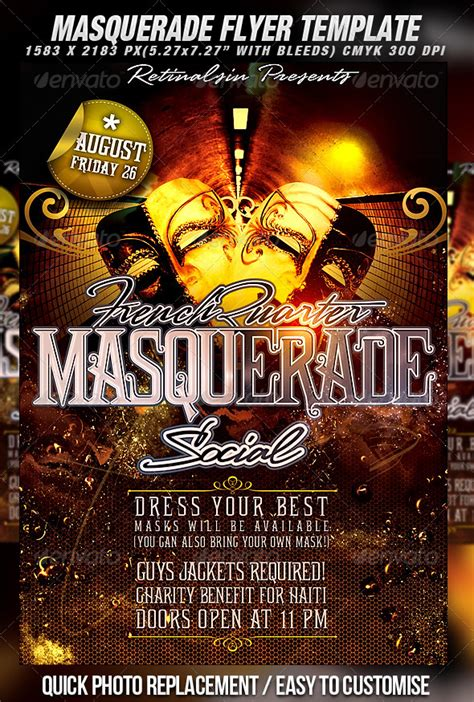 masquerade flyer template flyer template party poster