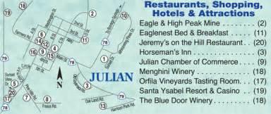 image gallery julian ca map
