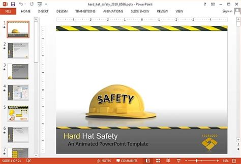 Best Animated Construction Powerpoint Templates Safety Templates Free