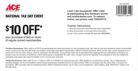 ace hardware queens ace hardware 10 40 tax day coupon good today only