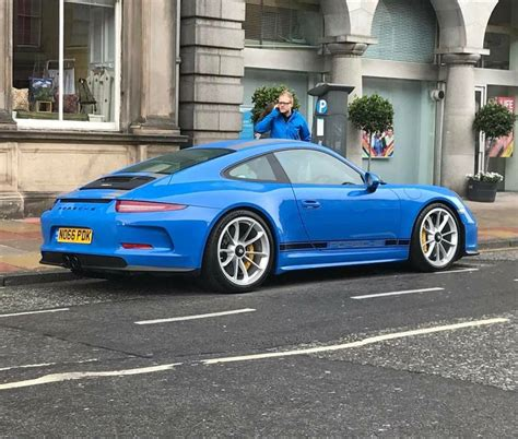 blue porsche 911 blue porsche 911 r stands out in scotland has quot no pdk