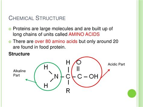 protein chemical formula food technology proteins