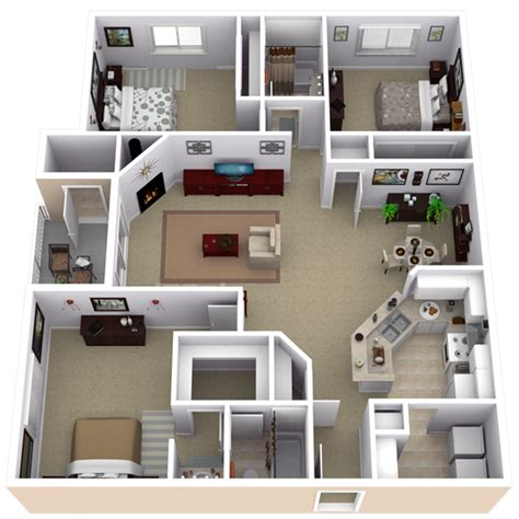 3 and 4 bedroom apartments repined two bedroom apartment layout pinteres