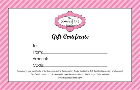 Gift Cards You Can Print - free printable gift certificate template out of darkness