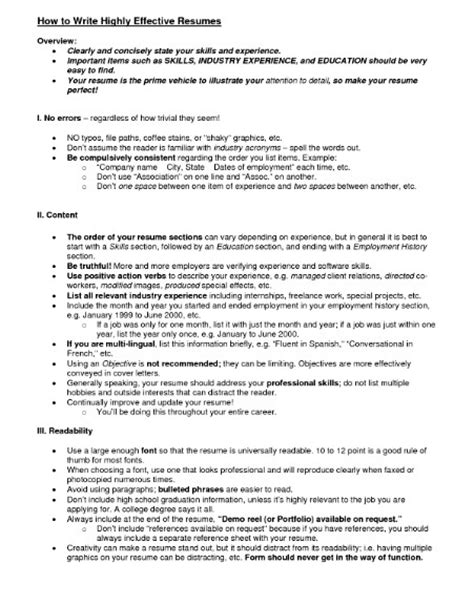 sle of an effective resume effective resume format 28 images effective resume